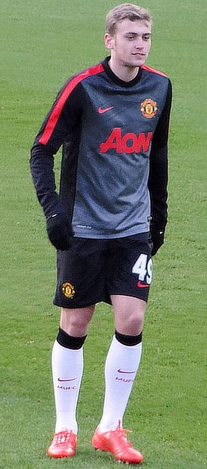 James Wilson (English footballer) - Wilson warming up for Manchester United in 2015