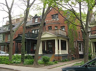 Jane Jacobs - Jacobs lived at 69 Albany Avenue (white porch) in Toronto's Annex for 35 years