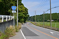 Japan National Route 465 in Samuro,Isumi city,Chiba Prefecture.JPG