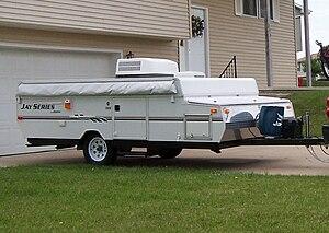 Popup camper - Same pop-up camper closed for travel