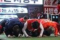 Jayuhangukdang members who are bowing in 2018.jpg