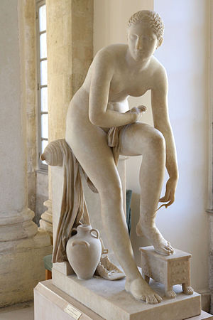 Jean-Joseph Espercieux - Greek woman preparing to enter the bath