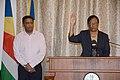 Jeanne Simeon swear in (Patrick Joubert - Seychelles News Agency).jpg