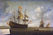 Jeronymus van Diest (II) - Het opbrengen van het Engelse admiraalschip de 'Royal Charles'.jpg