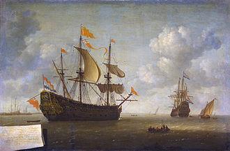 HMS Royal Charles (1655) - Image: Jeronymus van Diest (II) Het opbrengen van het Engelse admiraalschip de 'Royal Charles'