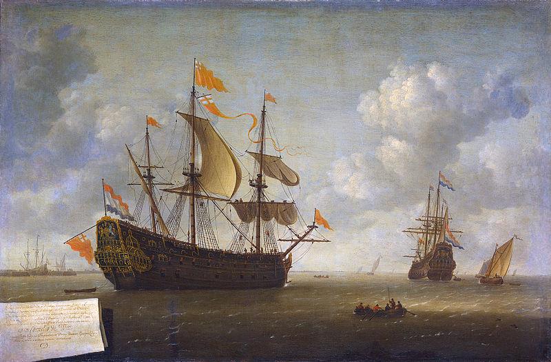 File:Jeronymus van Diest (II) - Het opbrengen van het Engelse admiraalschip de 'Royal Charles'.jpg