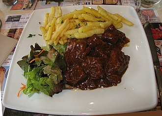 Belgian cuisine - Carbonade flamande, another of Belgium's national dishes