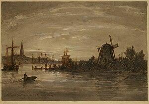 Johan Christian Dahl - View of Świnoujście