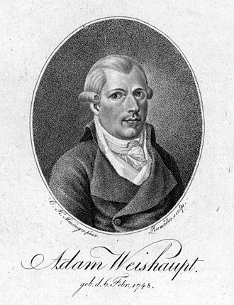 Adam Weishaupt - 1799 portrait of Weishaupt