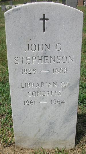 John Gould Stephenson - Headstone of John Gould Stephenson in the Congressional Cemetery, Washington DC