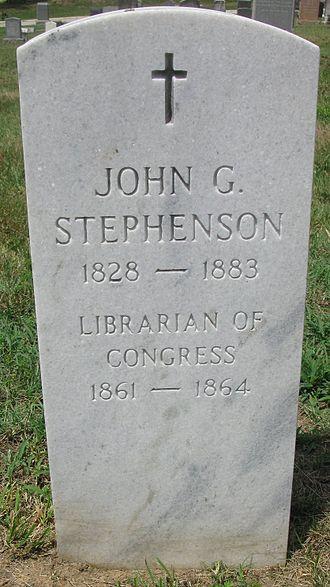 John Gould Stephenson - Headstone of John Gould Stephenson in the Congressional Cemetery, Washington DC