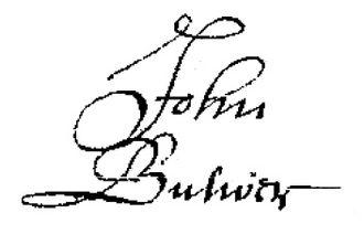 John Bulwer - Image: John Bulwer signature from will