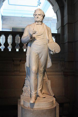John Graham-Gilbert - marble statue by William Brodie