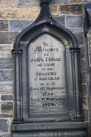 John Home - John Home's grave South Leith Parish Church