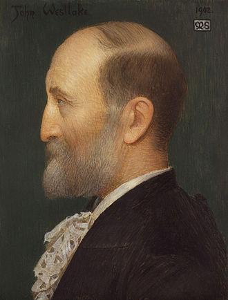John Westlake - Profile portrait of John Westlake by Marianne Stokes, 1902