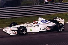 Photo de la Stewart SF-3 de Johnny Herbert au Canada