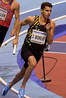 Jonathan Borlée Belgian sprinter