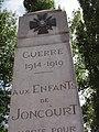 Joncourt (Aisne) monument aux morts avec année 1914-1919.JPG