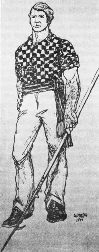 Lumberjack - Joseph Montferrand, legendary Canadian lumberjack