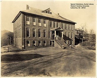 Western Carolina University - The Joyner Building served as a combination classroom, auditorium, and administration facility from its completion in 1913 until the 1930s, when other buildings relieved pressure from Joyner.  It was destroyed by fire in 1981, at which time it was the oldest building on campus.