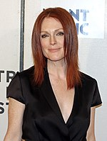 Photo of Julianne Moore at the 2008 Tribeca Film Festival.
