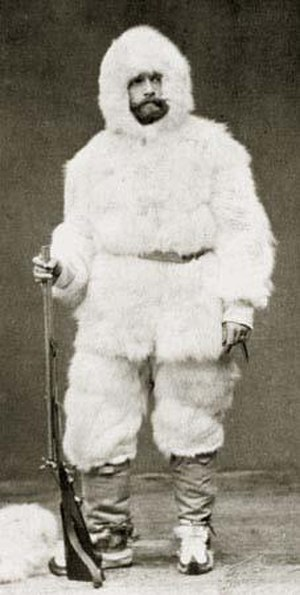 Julius von Payer - Payer in snow suit