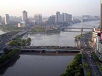 Ligo de tri ĉefaj riveroj en Ningbo China.jpg