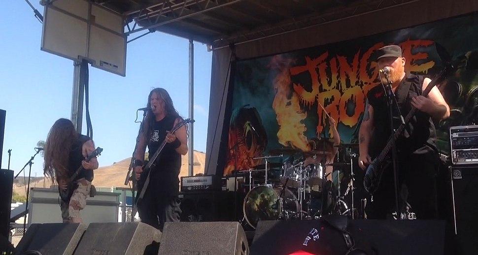 Jungle Rot performing in Chula Vista, CA on Mayhem Fest 2015