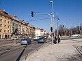 Křižovatka Bělohorská - Vaníčkova, do centra z dálky.jpg
