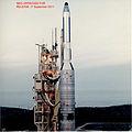 KH-8 (Gambit-3) reconnaissance satellite on launch pad.jpg