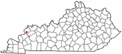 Location of Sturgis, Kentucky