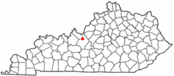 Location of Vine Grove, Kentucky