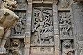 Kailasanatha Temple, dedicated to Shiva, Pallavve period, early 7th century, Kanchipuram (54) (37409945046).jpg