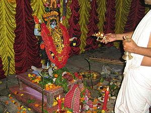Taki (India) - Image: Kali Puja in Taki