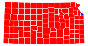 United States Senate election in Kansas, 1996 - Image: Kansas Rep sweep excluding Wyan only