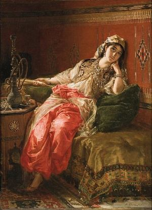 Karel Ooms - Dreaming in the harem.jpg