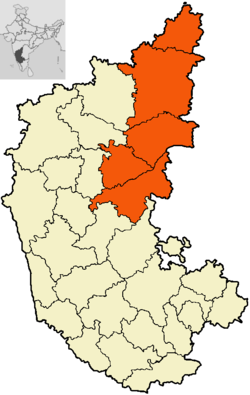 in saffron colour districts of Gulbarga division