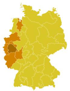 Map of the Church Province of Cologne