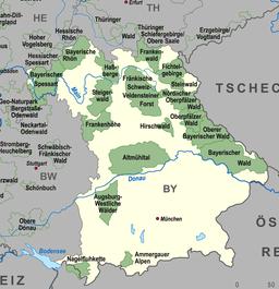 Karte Naturparks Bayern high