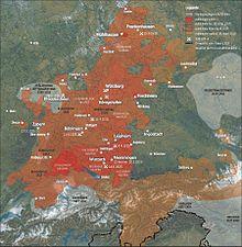 Karte Oberfranken Unterfranken Mittelfranken.Franken Region Wikipedia