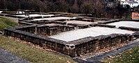 Kastellbad Schirenhof - konservierte Grundmauern 2008.jpg