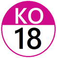 Keio KO18 station number.png