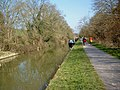 Kennet and Avon canal on approach to Avoncliff Aqueduct - geograph.org.uk - 878319.jpg