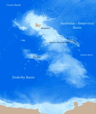 Kerguelen Plateau - Bathymetry of the Kerguelen Plateau