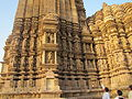 Khajuraho India, Vamana Temple, Outer Wall Sculptures; Photographed 10-March-2012.JPG