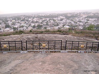 Khammam Fort - Khammam City View from the top of the Fort