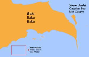 Baku Archipelago - Future location of the Khazar Islands