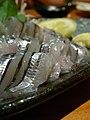 Kibinago sashimi closeup by jetalone in Kagoshima.jpg