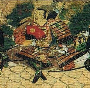 Kikuchi clan - Takefusa sitting on the wall at Hakata Bay waiting for the Mongolian fleet.