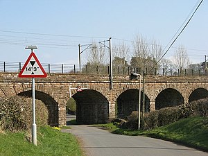 Kirtlebridge railway station - Kirtlebridge Viaduct near the old station